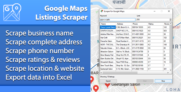Google Maps Listings Scraper