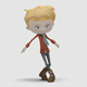 Cartoon Boy with Dancing Hiphop 03 - VideoHive Item for Sale