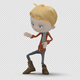 Cartoon Boy with Dancing Twist - VideoHive Item for Sale