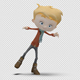 Cartoon Boy with Dancing Swing - VideoHive Item for Sale