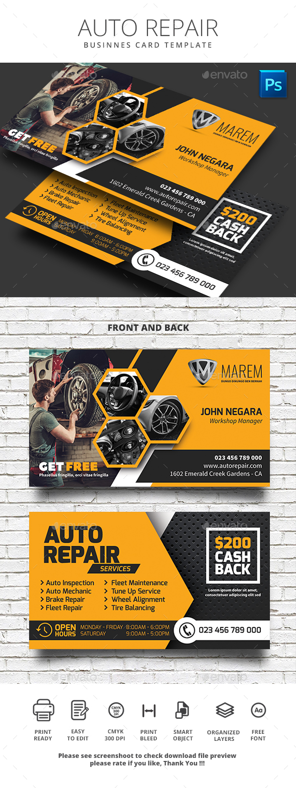 Car Business Card Templates & Designs from GraphicRiver Intended For Automotive Business Card Templates