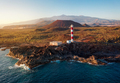 View from the height of the lighthouse Faro de Rasca at sunset on Tenerife, Canary Islands, Spain - PhotoDune Item for Sale