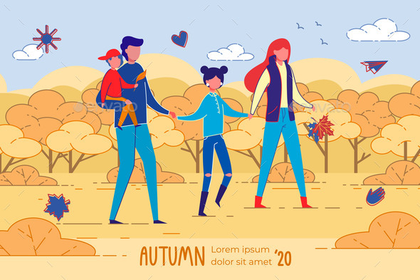 Autumn 2020 Four Membered Happy Family Banner