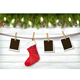Holiday Christmas Background with Photos and Stocking - GraphicRiver Item for Sale