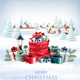 Christmas Holiday Background With a Red Sack Full Presents Vector - GraphicRiver Item for Sale