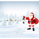 Christmas Holiday Background with Santa Claus and Winter Village - GraphicRiver Item for Sale