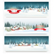 Three Christmas Holiday Landscape Banners - GraphicRiver Item for Sale