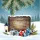 Holiday Christmas Background with a Presents and a Wooden Sign - GraphicRiver Item for Sale