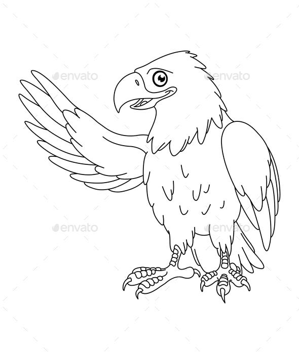 Outlined Eagle