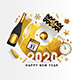 Happy New Year 2020 Greeting Card - GraphicRiver Item for Sale