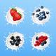 Berries in Milk Splash - GraphicRiver Item for Sale