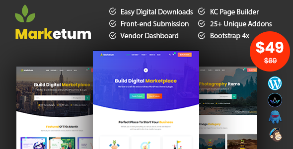 Marketum - Digital Product WordPress Theme