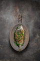 Fried whole fish asian style with oil and green onion, copy space - PhotoDune Item for Sale