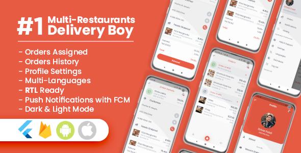 Delivery Boy For Multi-Restaurants Flutter App