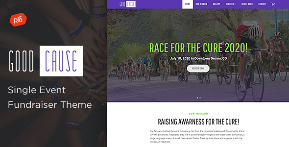 Good Cause - A Single Event Fundraiser Theme