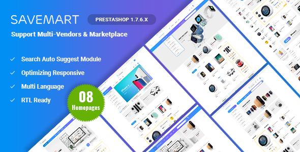 Savemart | Multi-Vendor & Marketplace Prestashop 1.7 Theme ( Compatible JA Marketplace )