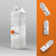 4 Mockups Cardboard Packaging For Juice and Milk - GraphicRiver Item for Sale