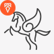 Pegasus Logo Templates - GraphicRiver Item for Sale