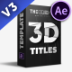 3D Titles Pack - VideoHive Item for Sale