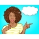 Surprised Woman Pointing Finger - GraphicRiver Item for Sale