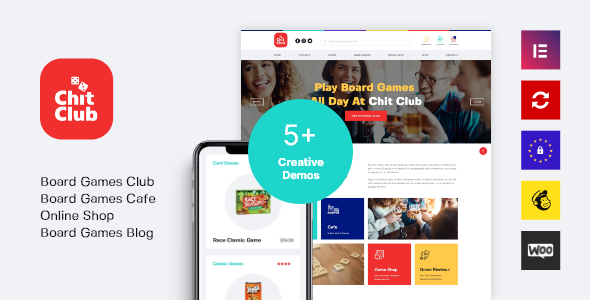 Chit Club | Board Games Bar & Anticafe WordPress Theme