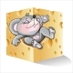 Vector Illustrations of Mouse in Cheese - GraphicRiver Item for Sale