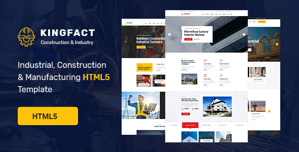 Kingfact - Industrial Construction & Manufacturing HTML5 Template
