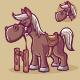 Cowboy Horse Cartoon - GraphicRiver Item for Sale