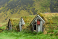 Abandoned Turf House Farm Buildings in Nupsstadur, Iceland - PhotoDune Item for Sale
