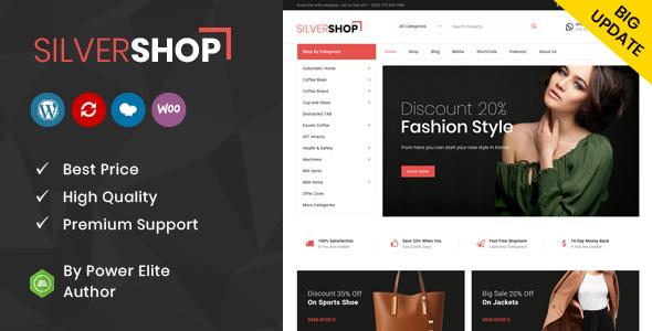 Silver Shop - Multipurpose WooCommerce Theme