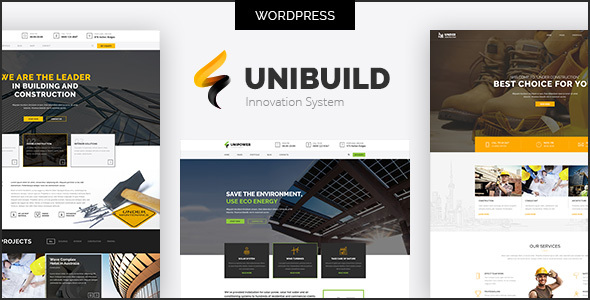 Factory, Industry, Construction Building WordPress Theme - Unibuild