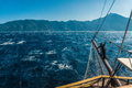 Waves on the sea and the mast of the ship in Greece - PhotoDune Item for Sale
