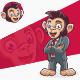 Employee Labour Monkey Chimpanzee - GraphicRiver Item for Sale