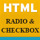 HTML CSS Radio and Checkbox Template - CodeCanyon Item for Sale
