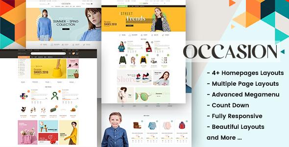 Occasion - Responsive Shopify Theme for Supermarket, Fashion, Shopping, etc...