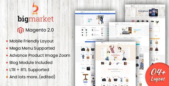 Bigmarket - Responsive Multipurpose Magento 2 Theme ( RTL Supported )