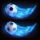 Realistic Flying Soccer Ball in Blue Fire - GraphicRiver Item for Sale