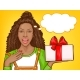 Woman with Giftbox - GraphicRiver Item for Sale