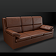 Sofa leather realistic 3D - 3DOcean Item for Sale