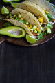 Chicken tacos with mango salsa background - PhotoDune Item for Sale