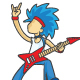 Man Playing Electric Guitar - Vector Flat illustration - GraphicRiver Item for Sale