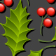 Seamless Floral Pattern with Holly - GraphicRiver Item for Sale