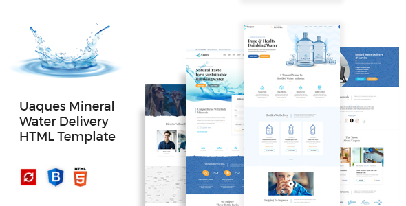 Uaques - Drinking Mineral Water Delivery HTML Template