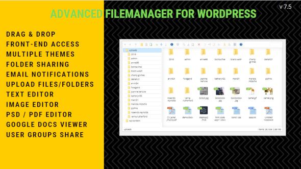 File Manager Plugin For WordPress 3