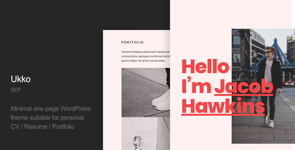 Ukko - Personal Portfolio WordPress Theme
