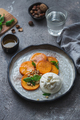 Buratta italian cheese snack served on handmade plate - PhotoDune Item for Sale
