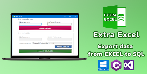ExtraExcel - Export Data From Excel To SQL Server