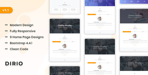 Download Dirio – Personal Portfolio and Resume Template Nulled
