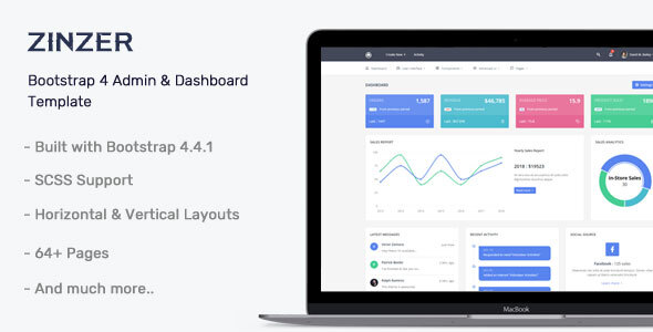 Zinzar - Admin Dashboard Template