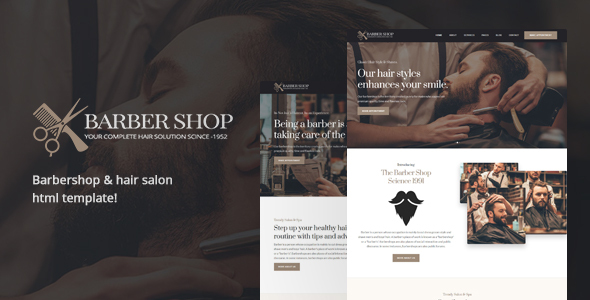 BarberShop & Hair Salon HTML Template